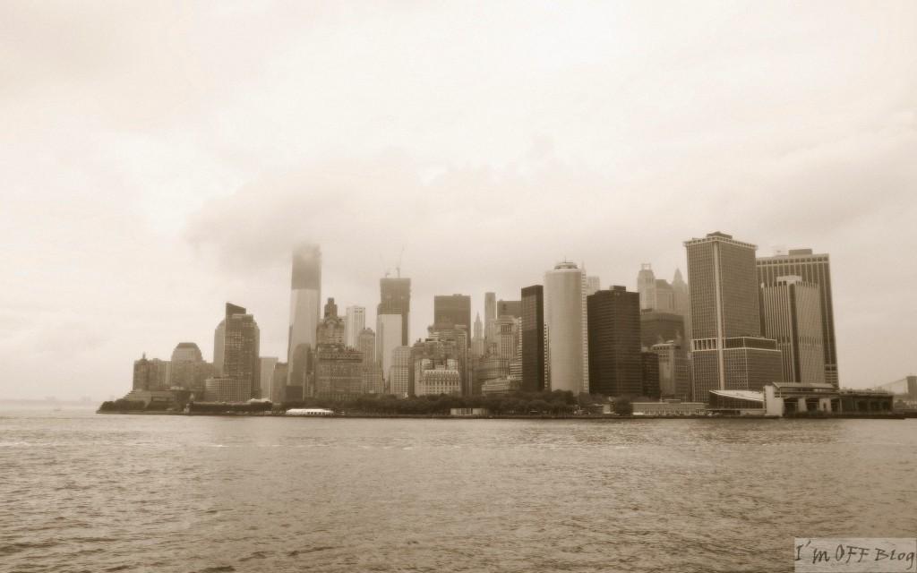 Widok z Ferry na Staten Island